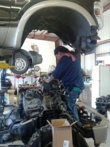 Photo of Ford diesel engine change